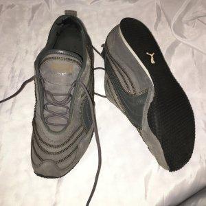 Neil Barrett Zapatillas con velcro gris antracita Cuero