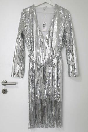 Nelly Trend Abito con paillettes argento-grigio chiaro Poliestere