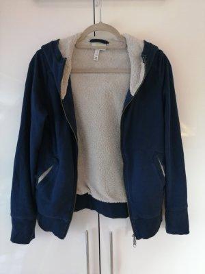 Adidas NEO Wełniany sweter ciemnoniebieski