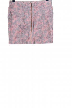 NEO Label Jeansrock pink-hellgrau Allover-Druck Casual-Look
