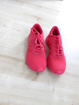 NEO Label leuchtendes rot
