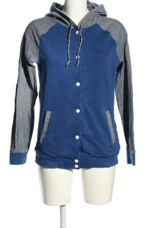 NEO Label Outdoor Jacket blue-light grey flecked casual look