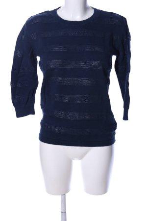NEO Label Strickpullover blau Streifenmuster Casual-Look