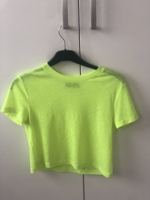 Bershka Mesh Shirt neon yellow-neon green