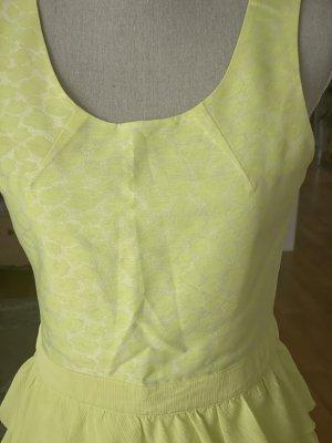 Neon Farbe Sommer Kleid mit Volant
