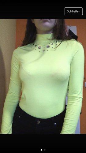 FB Sister Blusa tipo body amarillo neón