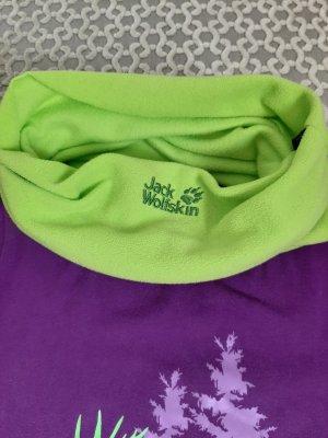 neon-grüner Schlauchschal von Jack Wolfskin, Fleece