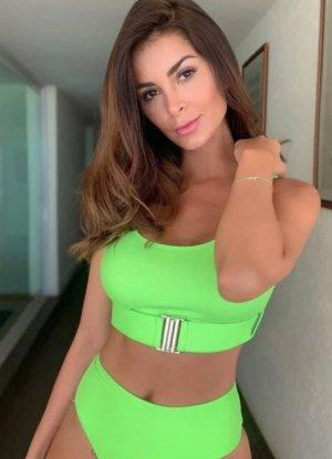 Neon grüner texturierter Bikini Set mit Gürtel