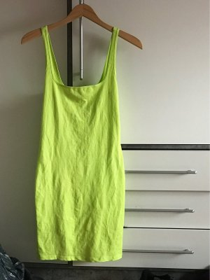 Neon grünes Figur betontes Kleid