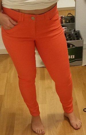 Neon-Korall-farbene Skinny Jeans von Democracy (10)