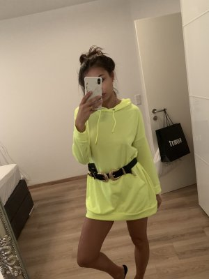 Neon lime oversized Hoodie / Dress