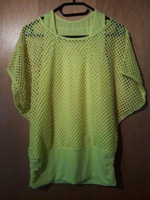 Camisa de malla amarillo neón