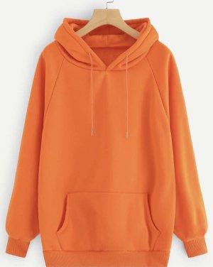 Jersey con capucha naranja