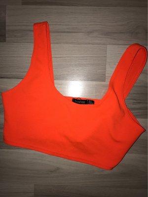 Neon-Orangenes Crop Top
