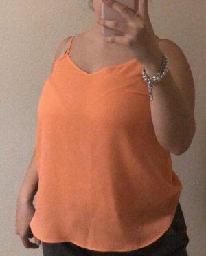 Neon orangenes Top