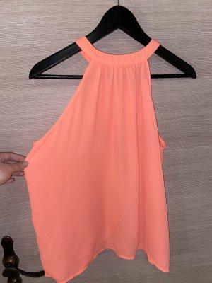 Ann Christine Mouwloze blouse neonroos-roze