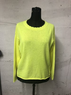 Princess goes Hollywood Pull en cashemire jaune fluo
