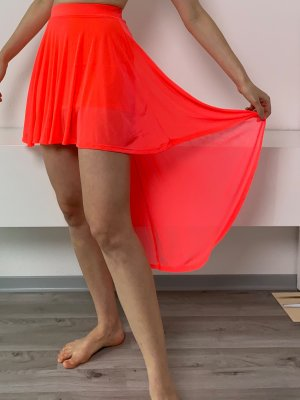 H&M Falda asimétrica multicolor
