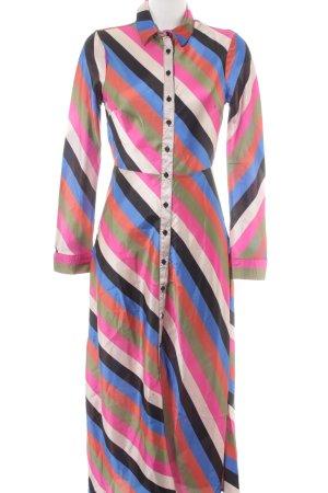 Neon Rose Shirtwaist dress striped pattern extravagant style