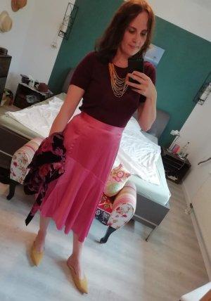 Neon Rose Rok met hoge taille roze