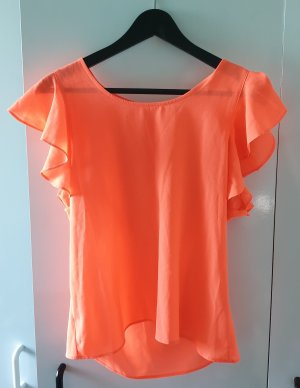 Tally Weijl Camisa con cuello caído naranja neón-salmón