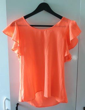 Neon Shirt mit Fledermausärmeln