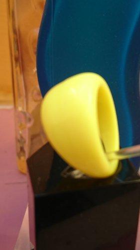 Neon Statement Ring gelb Gr. 17