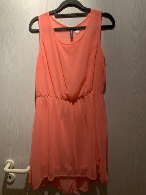 H&M Shortsleeve Dress salmon