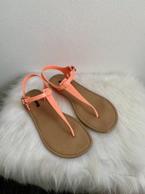 Forever 21 Toe-Post sandals neon orange