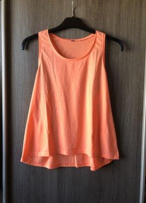 H&M Off-The-Shoulder Top neon orange-orange