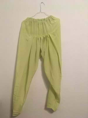 Pantalón estilo Harem amarillo neón