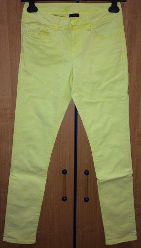 Pantalone boyfriend giallo neon-giallo