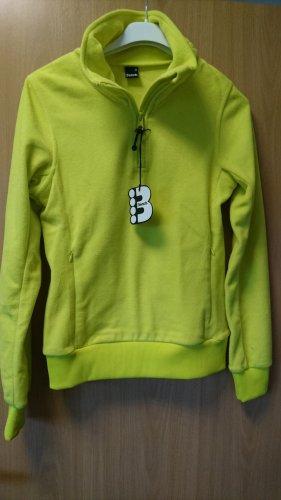 neongelber Fleece Pullover von Bench Gr. S neu mit Etikett