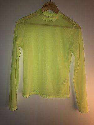 Neongelber Pullover
