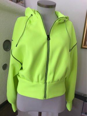 Neongelbgrüne Sporthacke von Zara