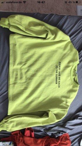 neongrüner pullover