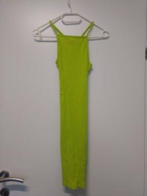 neongrünes Bodyconkleid