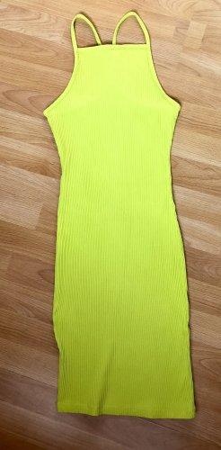 NewYorker Vestido elástico amarillo neón