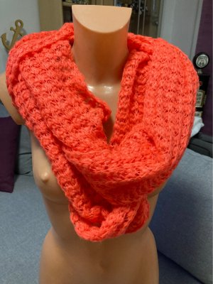 Pieces Knitted Scarf neon orange