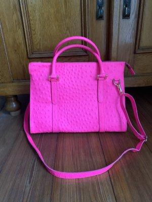 True Vintage Bolso de bolos rosa neón
