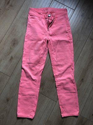 American Eagle Outfitters Jeans a sigaretta fucsia neon-rosa