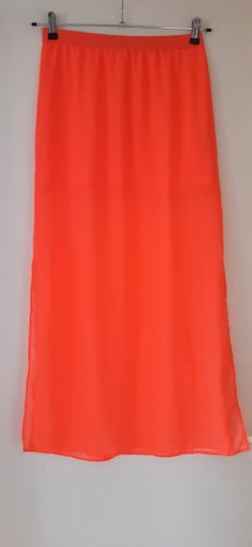 H&M Divided Jupe longue rouge clair-rose fluo