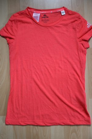 Adidas Koszulka sportowa czerwony neonowy-jasnoczerwony Poliester