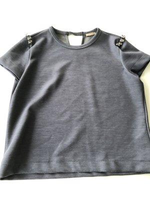 1 NY tee T-shirt gris-bleu acier