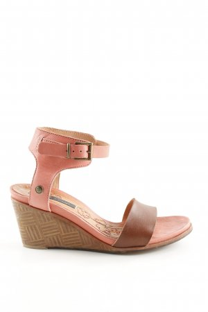 Neosens Strapped High-Heeled Sandals pink-brown casual look
