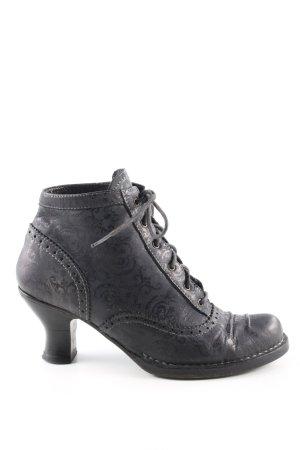 Neosens Schnür-Stiefeletten schwarz extravaganter Stil