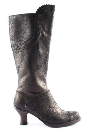 Neosens Wide Calf Boots bronze-colored-brown graphic pattern elegant