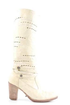 Nero Giardini Heel Boots natural white casual look