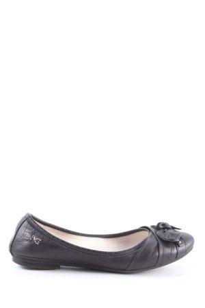Nero Giardini Ballerina pieghevole nero stile casual