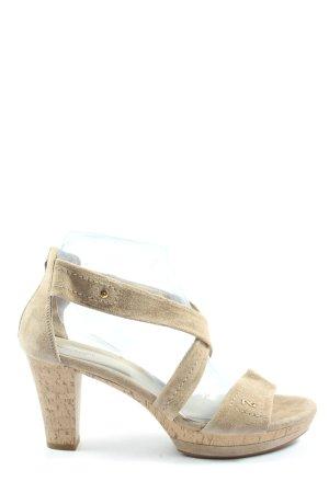 Nero Giardini Platform High-Heeled Sandal cream casual look
